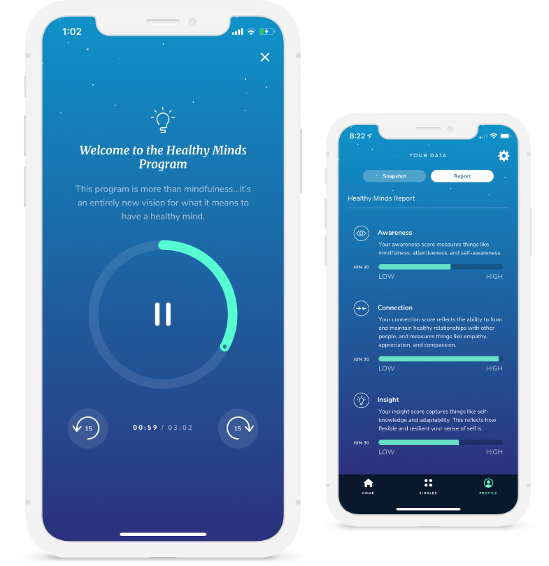 Try Our Free App for Guided, Mindful Meditation | Healthy Minds Innovations