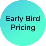 Early Bird Pricing includes $75 standard course price